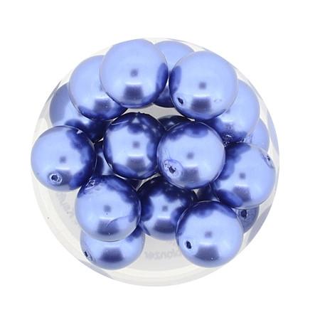 Pearl Renaissance, 10mm, 20 Stück, graublau
