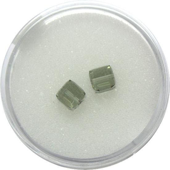 Swarovski Würfel, quer gestochen, 6mm,2St.,black diamond