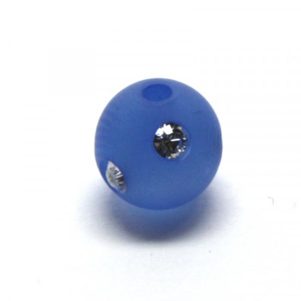 Polaris Strassperlen, 8mm, blau