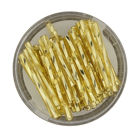 Glasstift, Twisted, 25 mm, 17gr. Dose, gold