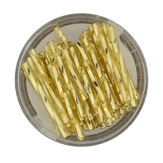 Glasstift, Twisted, 25 mm, 17gr. Dose, gold