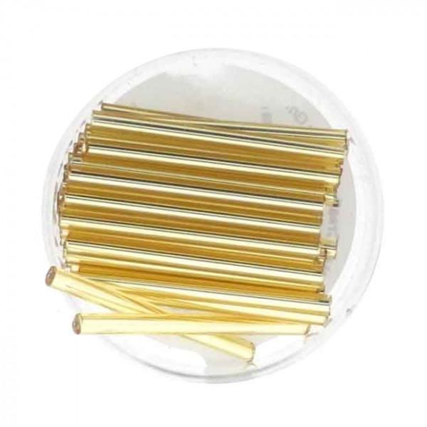Glasstift, Goldeinzug, 30 mm, 12gr. Dose, kristall