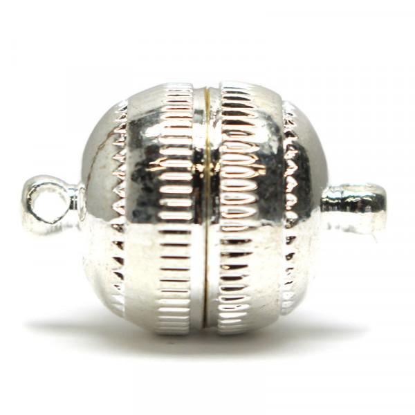 Magnetverschluss, Metall, 15 mm, platin