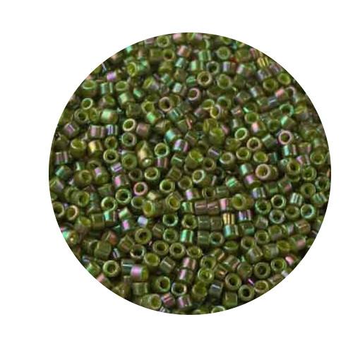 Miyuki Delicas, 11/0 (2,0mm), 5gr. Dose,oliv luster