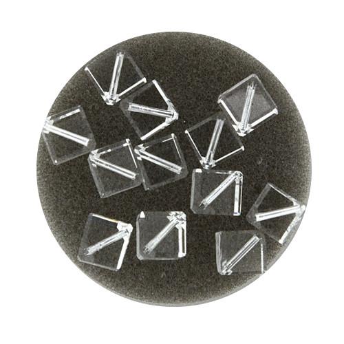 Swarovski Würfel, diagonal gestochen, 6mm, 2St., crystal