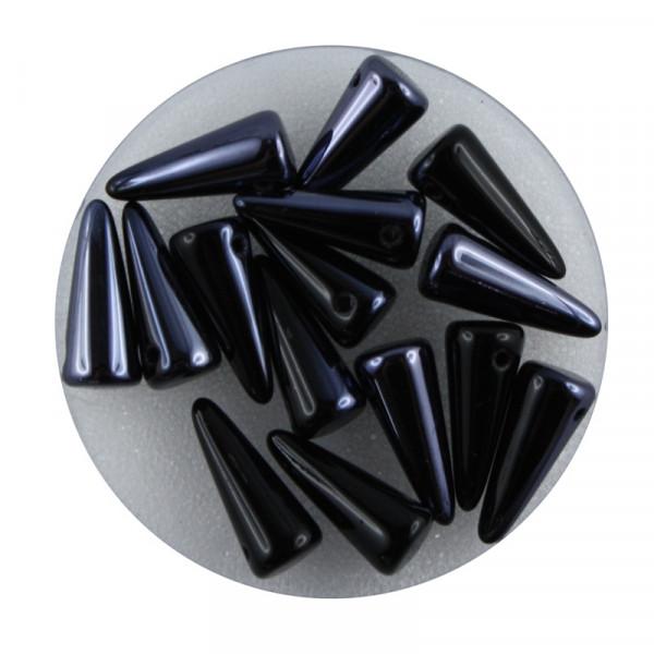 Spike Beads,5x13mm,15 Stück,jet hematite