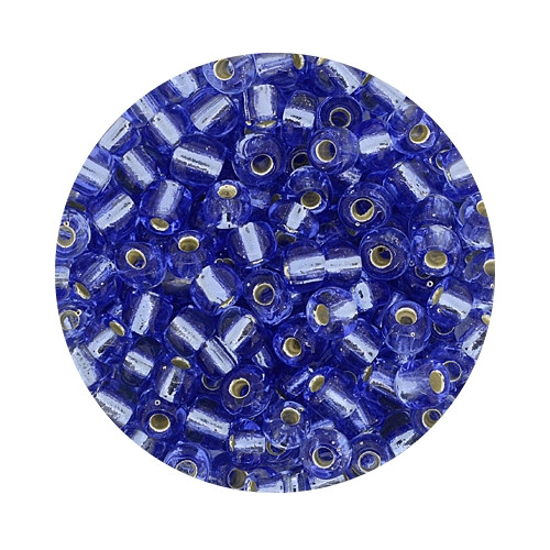 Rocailles aus China, 17gr. Dose, 4mm,hellblau silbereinzug
