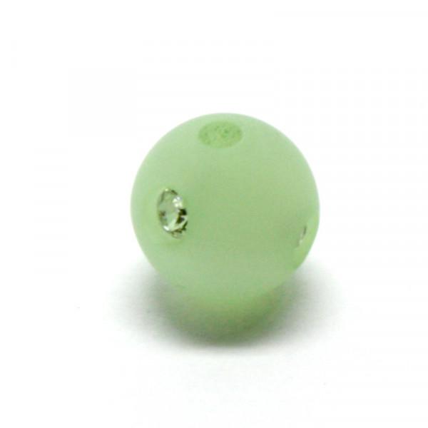Polaris Strassperlen, 10mm, chrysolite-grün