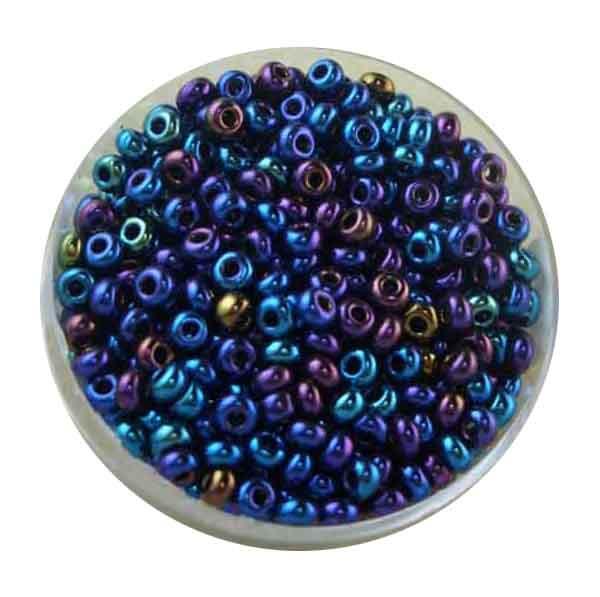 Rocailles, Scarabe, 3,5 mm, 17gr. Dose, regenboben