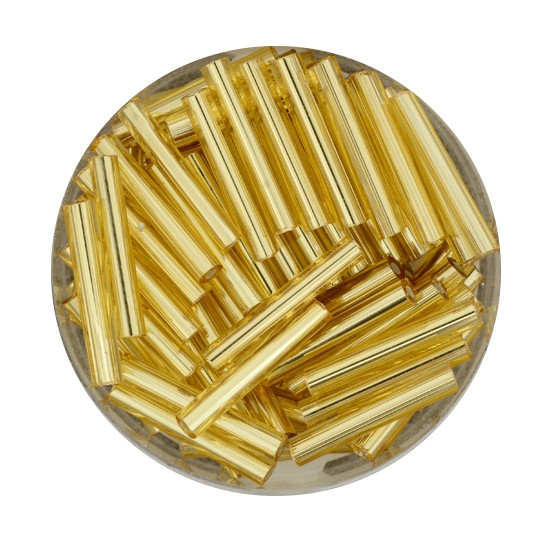 Glasstift, Silbereinzug, 15 mm, 17gr. Dose, goldfarben