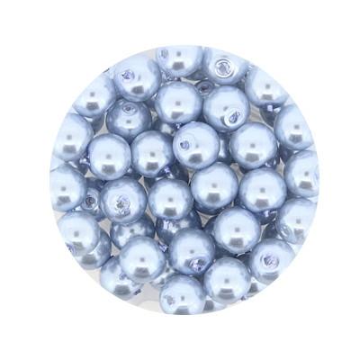 Pearl Renaissance, 6mm, 55 Stück, eisblau