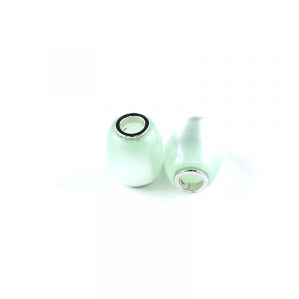 Polaris Großlochperlen, 15x12mm, chrysolite-grün