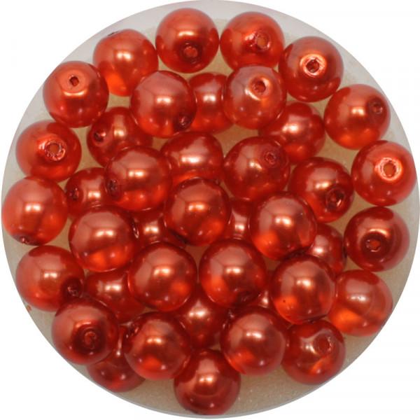 Crystal Pearl Renaissance, 6mm, 40 Stück, orange