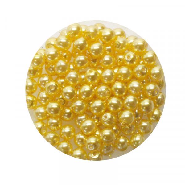 Pearl Renaissance, 4mm, 100 Stück, gelb