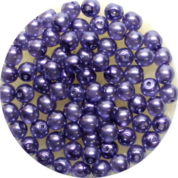 Crystal Pearl Renaissance, 4mm, 75 Stück, violet