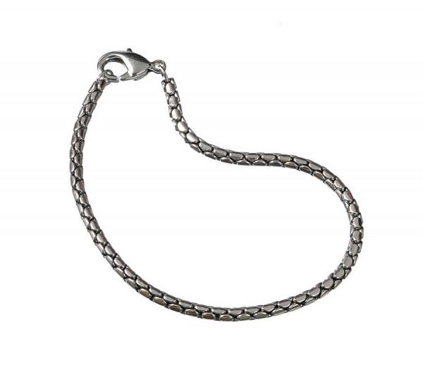 Metall-Armband,alt-silberfarben,für Großlochperlen,19cm