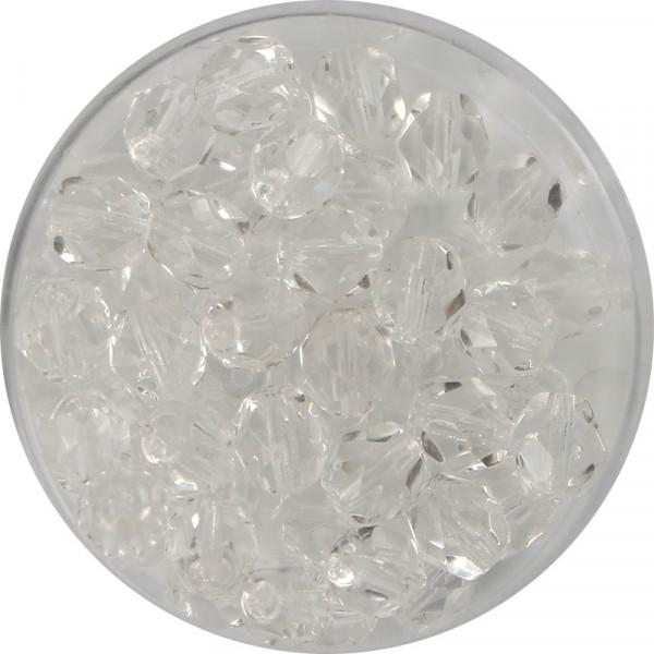 Glasschliffperlen, feuerpoliert, 10 mm, transp. kristall