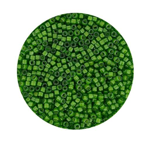 Miyuki Delicas, 11/0 (2,0mm), 9gr. Dose,green luster