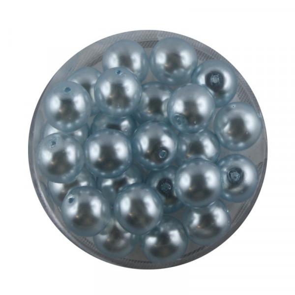 Crystal Pearl Renaissance, 8mm, 25 Stück, hellblau