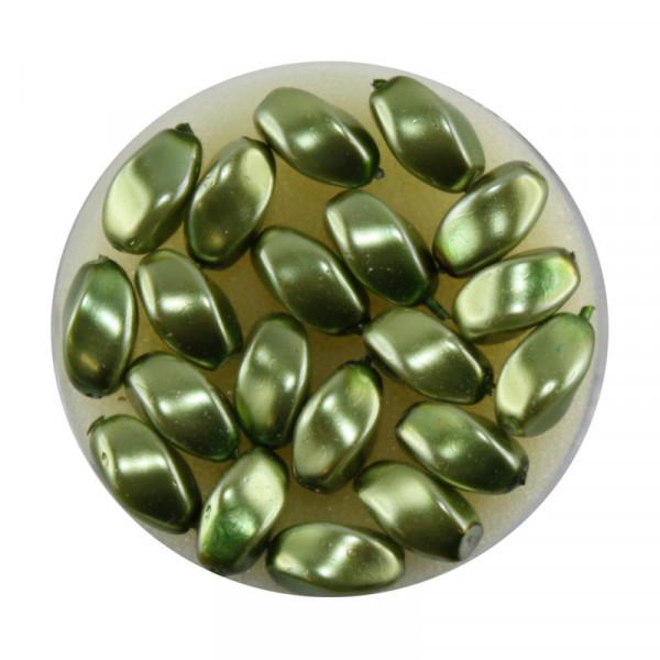 Pearl Renaissance, 9x6mm, 20 Stück, oliv