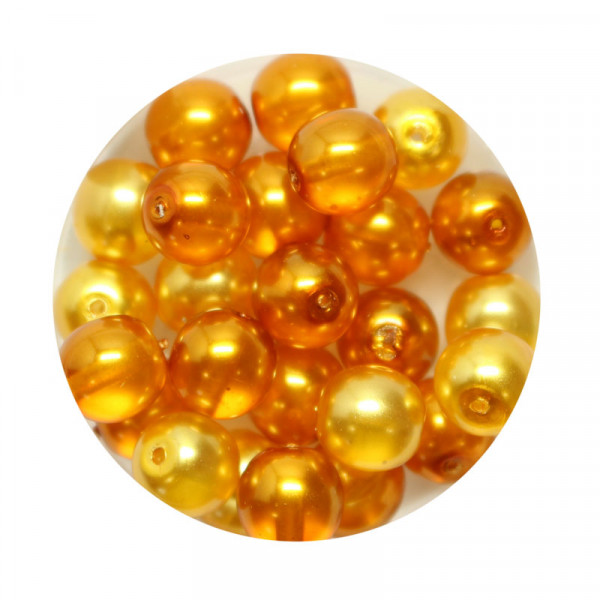 Crystal Pearl Renaissance, 8mm, 25 Stück, topas ton