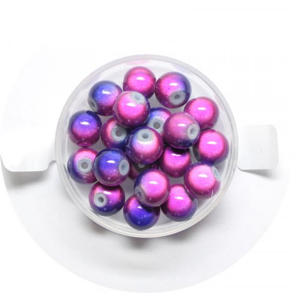 Miracle-Beads Glasperlen, 20 Stck., 8mm, blau-lila