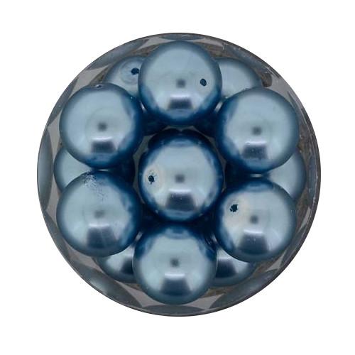 Pearl Renaissance, 12mm, 14 Stück, hellblau