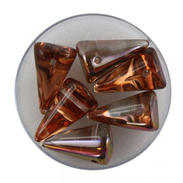 Spike Beads,12x18mm,6 Stück,kristall kupfer AB