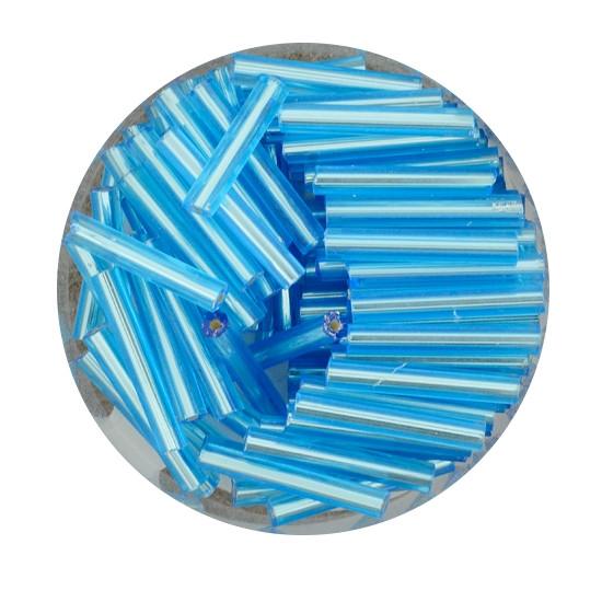 Glasstift, Silbereinzug, 15 mm, 17gr. Dose, hellblau