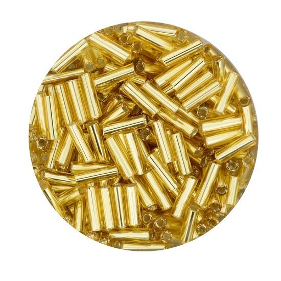 Glasstift, Silbereinzug, 6 mm, 17gr. Dose, goldfarben