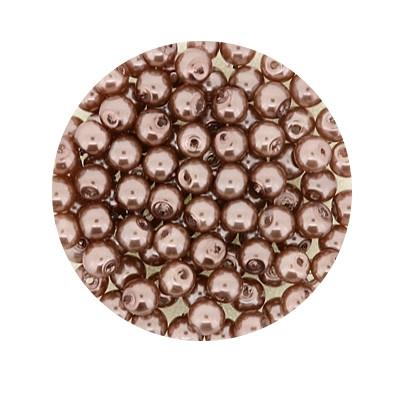 Pearl Renaissance, 4mm, 100 Stück, hellbraunbeige