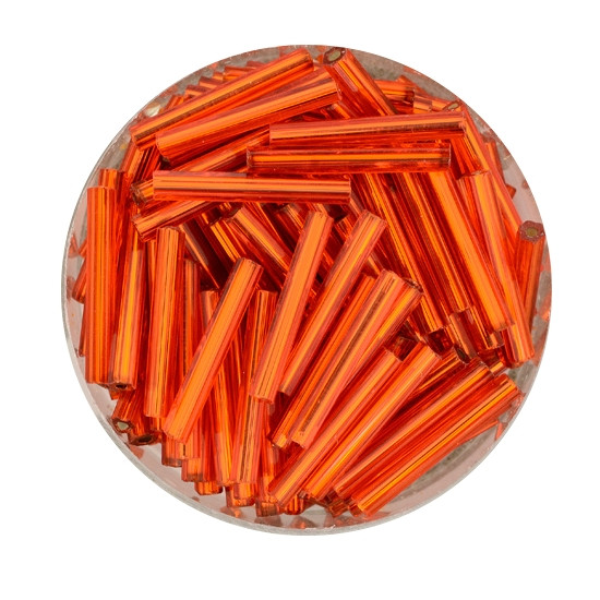 Glasstift, Silbereinzug, 15 mm, 17gr. Dose, orange