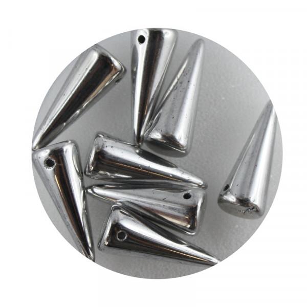 Spike Beads,7x17mm,8 Stück, silberfb.