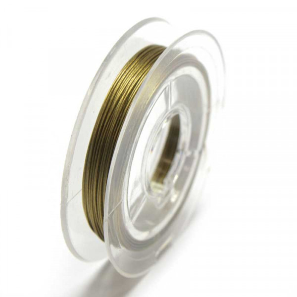 Edelstahldraht, nylonummantelt, 0,38 mm, bronze