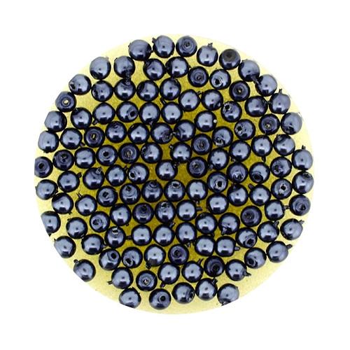 Pearl Renaissance, 3mm, 120 Stück, anthrazit