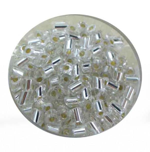 Glasperlen Cremette, glänzend, 4-6 mm, weiß