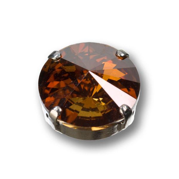 Swarovski Rivoli, 14 mm, crystal copper