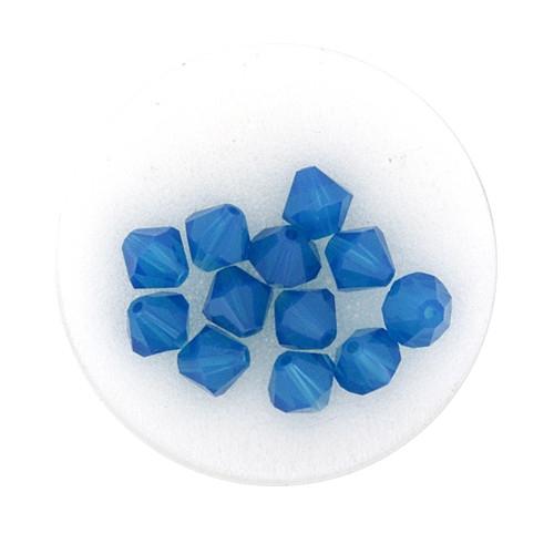 Swarovski Doppelkegel, 6 mm, 12 Stück,caribbean blue opal