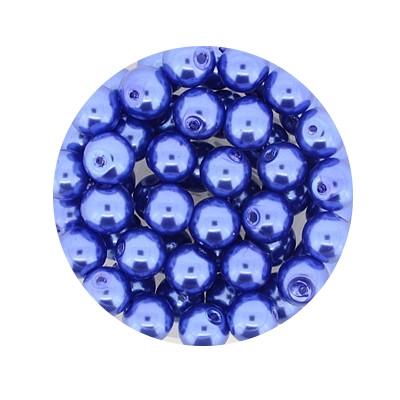Pearl Renaissance, 6mm, 55 Stück, blau