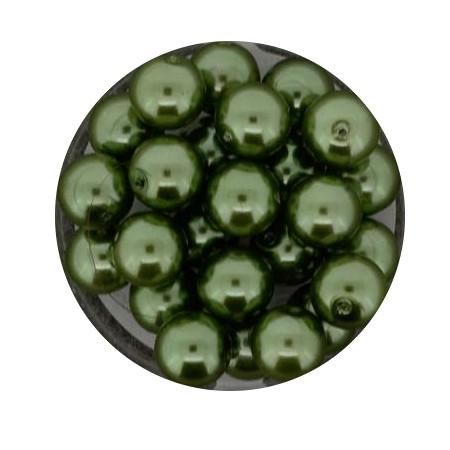 Pearl Renaissance, 8mm, 25 Stück, dunkelgrün