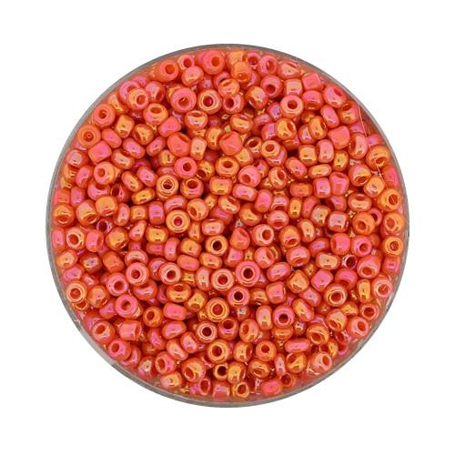 Rocailles aus China, 17gr. Dose, 2,6mm,orange AB