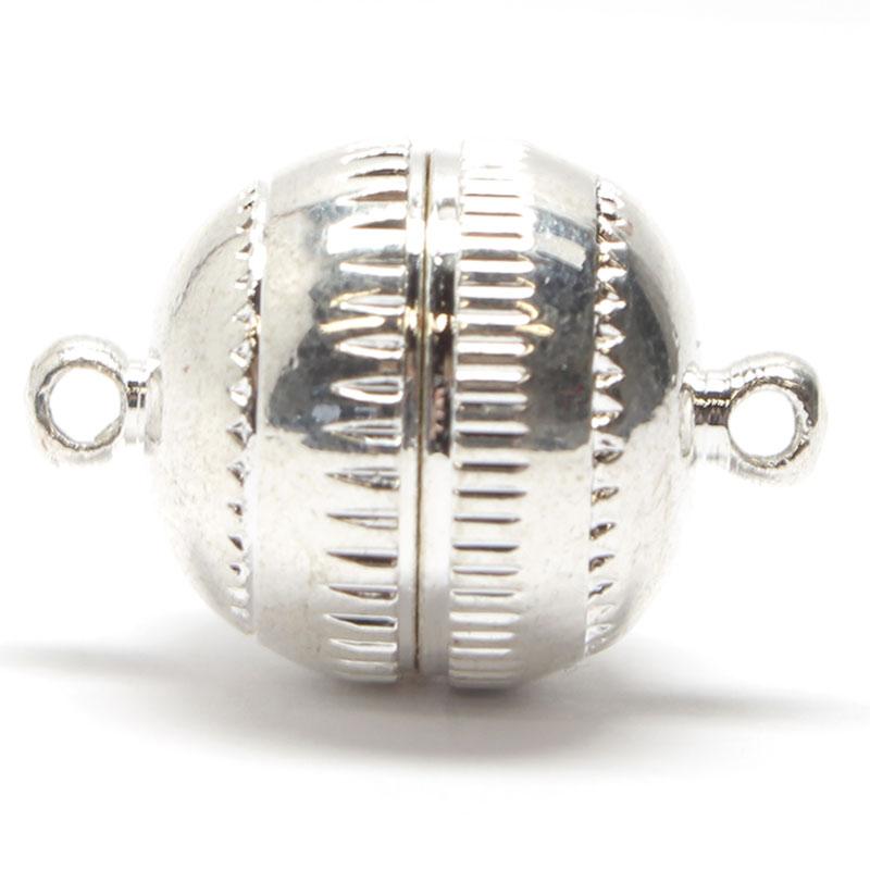 Magnetverschluss, Metall, 15 mm, silber