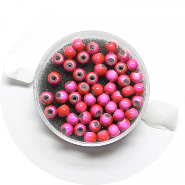 Miracle-Beads Glasperlen, 50 Stck., 4mm, rosa-rot