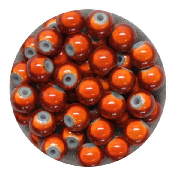 Miracle-Beads Glasperlen, 40 Stck., 6mm, orange