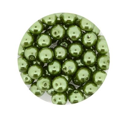 Pearl Renaissance, 6mm, 55 Stück, dunkelgrün
