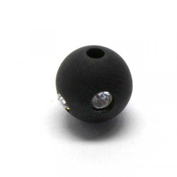 Polaris Strassperlen, 14mm, schwarz