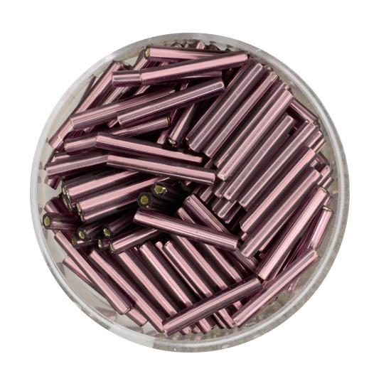 Glasstift, Silbereinzug, 15 mm, 17gr. Dose, lila