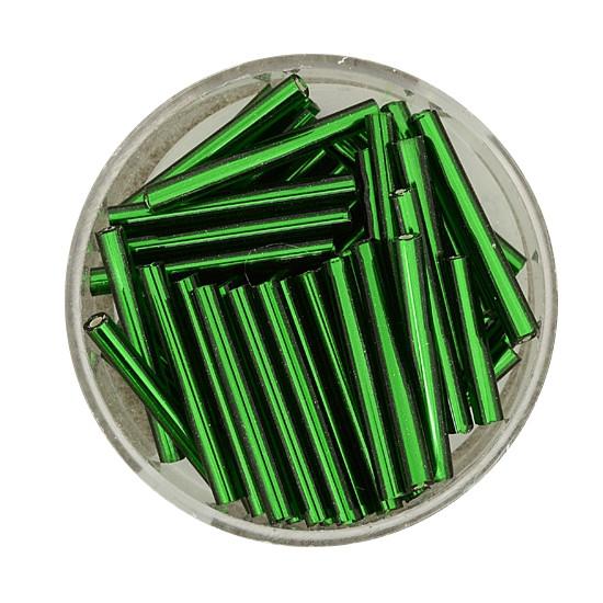 Glasstift, Silbereinzug, 19 mm, 17gr. Dose, dunkelgrün