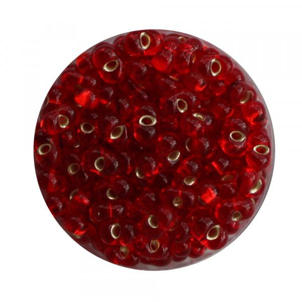 Farfalle, Silbereinzug, 6,5mm, 17gr Dose, rot