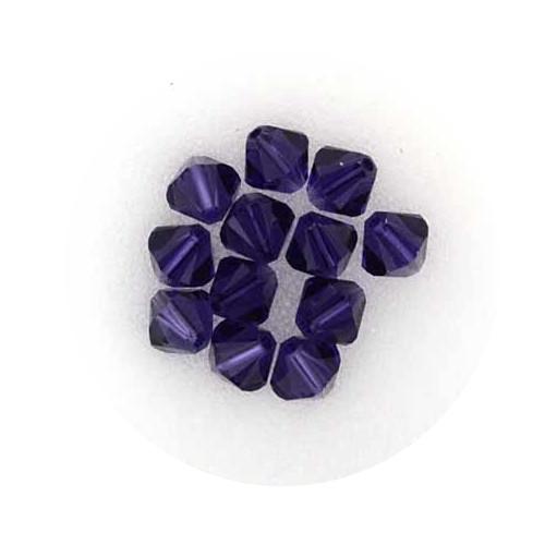 Swarovski Doppelkegel, 6 mm, 12 Stück,purple velvet